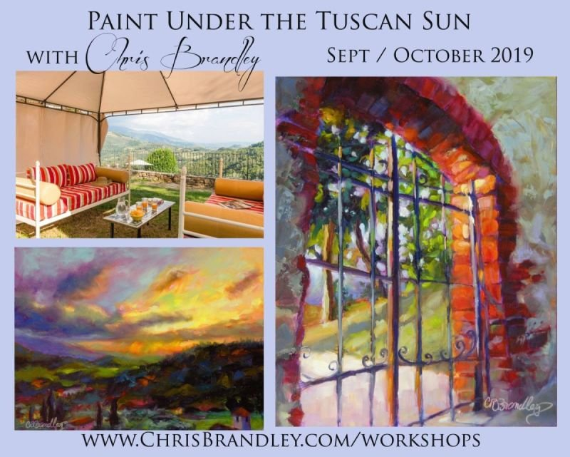 Paint Under the Tuscan Sun with Chris Brandley