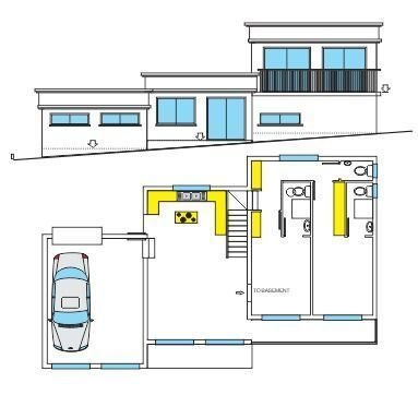 Sloping 2 bedroom house