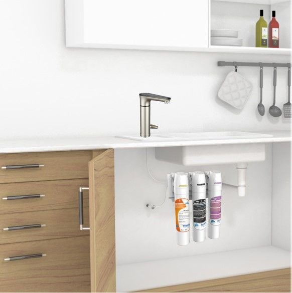 Kitchen Electric Tap with 3 Stage Under sink filters