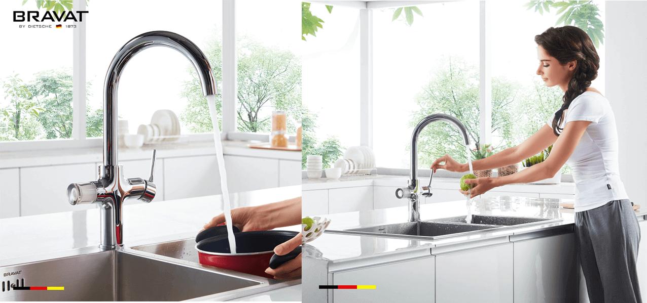 Bravat Equatre: Mixer tap for washing