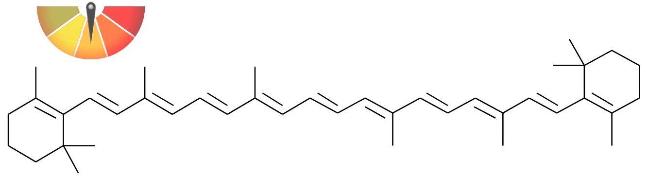 Формула повністю-транс бета-каротину