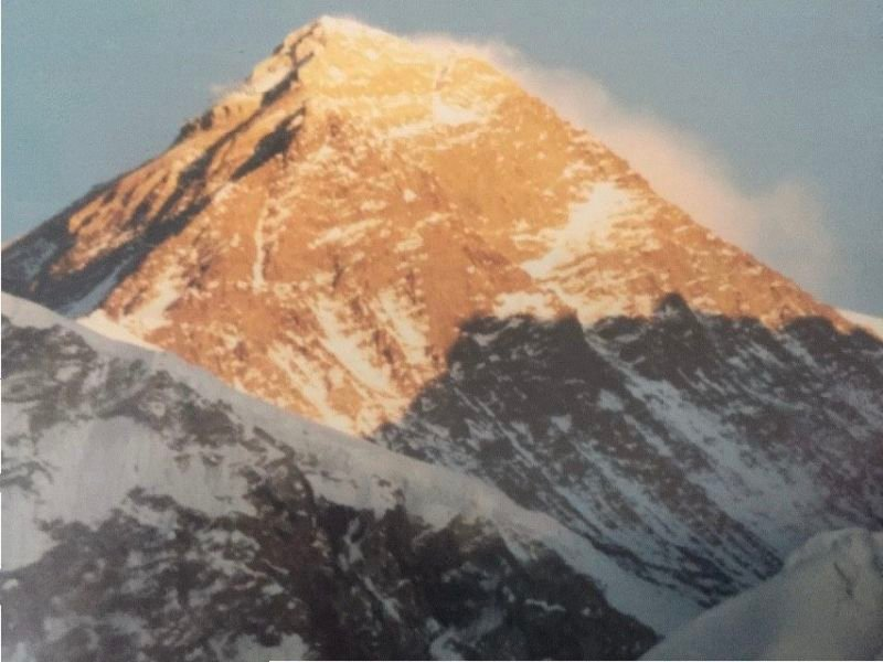 SUNSET ON EVEREST.
