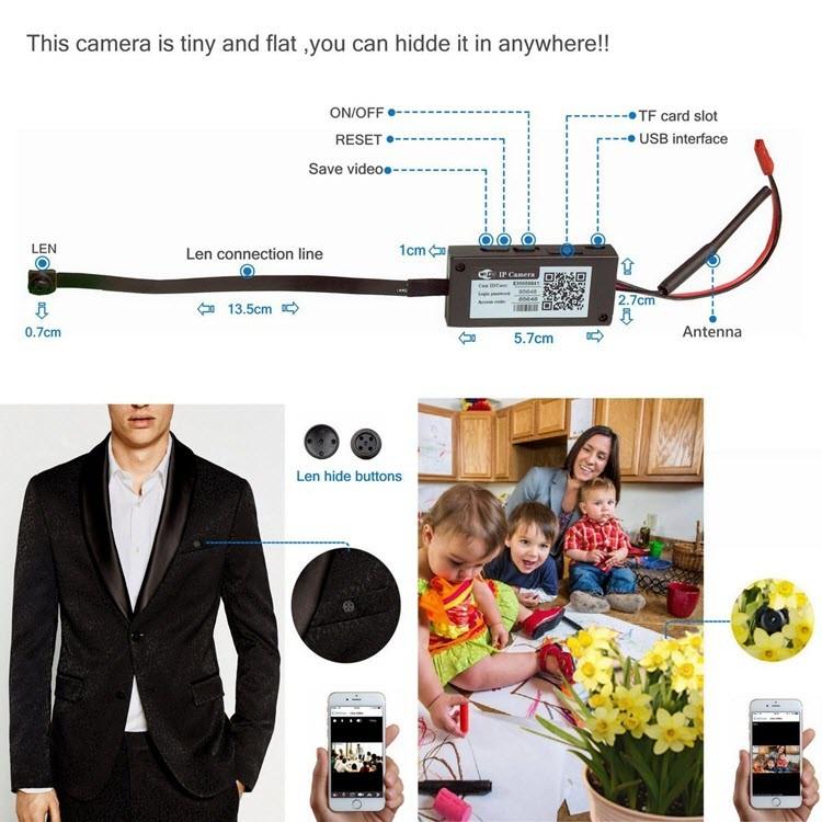Mini Wireless WIFI Spy Hidden Camera - 2