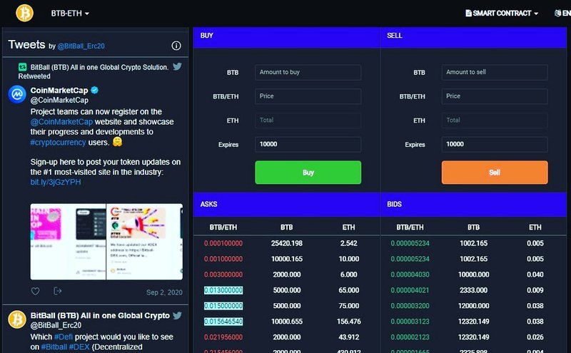 Bitball DEX ⭐️⭐️⭐️⭐️⭐️ BitBall Ecosystem's own decentralized exchange.