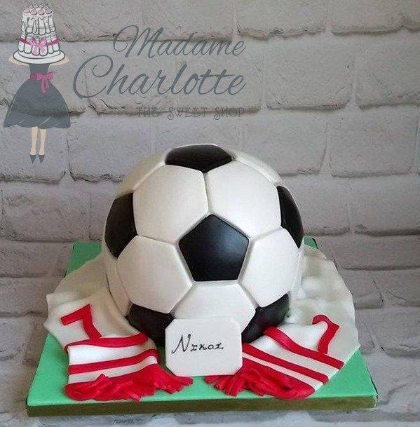 τουρτα γενεθλίων με ζαχαροπαστα football ζαχαροπλαστείο καλαμάτα madamecharlotte.gr, birthday theme party cakes 2d 3d confectionery patisserie kalamata
