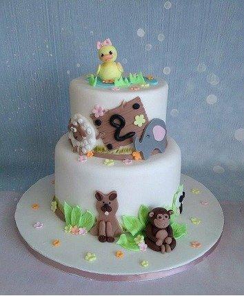 βαπτισης τούρτα απο ζαχαρόπαστα farm animals, ζαχαροπλαστείο καλαμάτας madame charlotte, birthday theme cakes farm animals kalamata