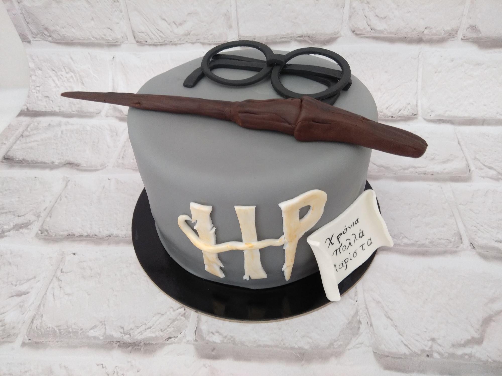 τούρτα απο ζαχαρόπαστα harry potter, Ζαχαροπλαστείο καλαμάτα madamecharlotte.gr, birthday cakes 2d 3d confectionery patisserie kalamata