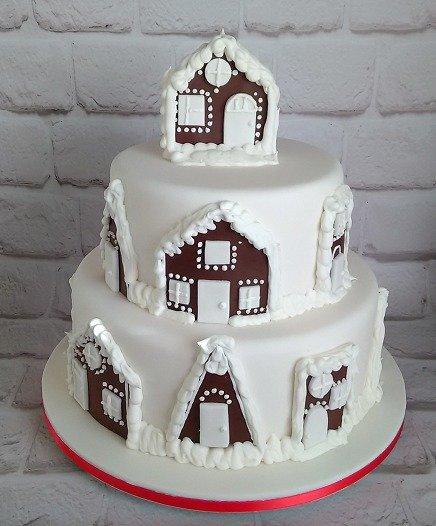 τούρτα απο ζαχαρόπαστα snow village Ζαχαροπλαστειο καλαματα madame charlotte, theme party birthday cakes 2d 3d confectionery patisserie kalamata