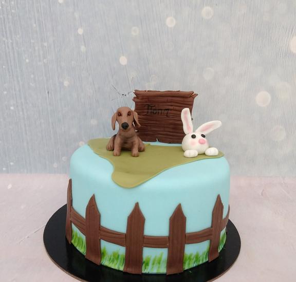 τούρτα από ζαχαρόπαστα my pets Ζαχαροπλαστείο καλαμάτα madamecharlotte.gr, birthday party cakes 2d 3d confectionery patisserie kalamata