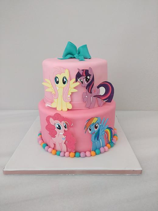 τούρτα από ζαχαρόπαστα μικρό μου πόνυ my little pony Ζαχαροπλαστείο καλαμάτα madamecharlotte.gr, birthday theme party cakes 2d 3d confectionery patisserie kalamata