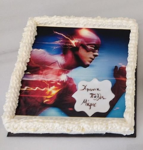 τούρτα από ζαχαρόπαστα flash, Ζαχαροπλαστείο καλαμάτα madamecharlotte.gr, birthday party cakes 2d 3d confectionery patisserie kalamata