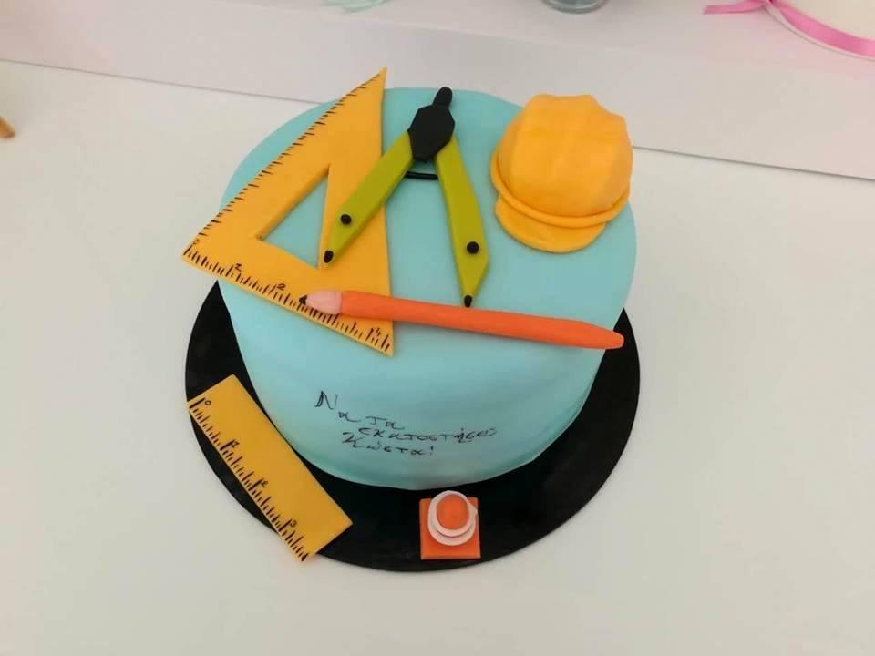 τούρτα από ζαχαρόπαστα αρχιτέκτονας μηχανικός, Ζαχαροπλαστείο καλαμάτα madamecharlotte.gr, τούρτες γεννεθλίων γάμου βάπτησης παιδικές θεματικές birthday theme party cake 2d 3d confectionery patisserie kalamata