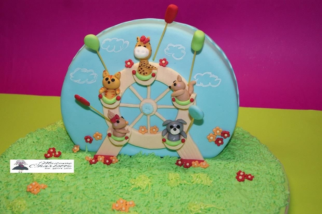 τούρτα από ζαχαρόπαστα τσίρκο, Ζαχαροπλαστείο καλαμάτα madamecharlotte.gr, τούρτες γεννεθλίων γάμου βάπτησης παιδικές θεματικές birthday theme party cake 2d 3d confectionery patisserie kalamata