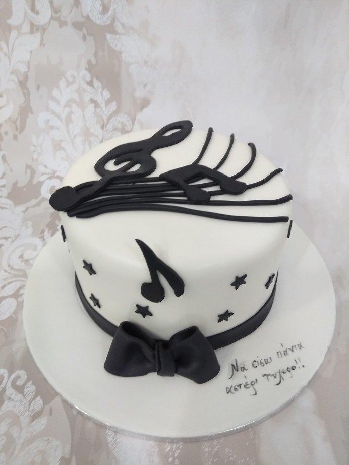 τούρτα από ζαχαρόπαστα music, Ζαχαροπλαστείο καλαμάτα madame charlotte, τούρτες γεννεθλίων γάμου βάπτησης παιδικές θεματικές birthday theme party cake 2d 3d confectionery patisserie kalamata