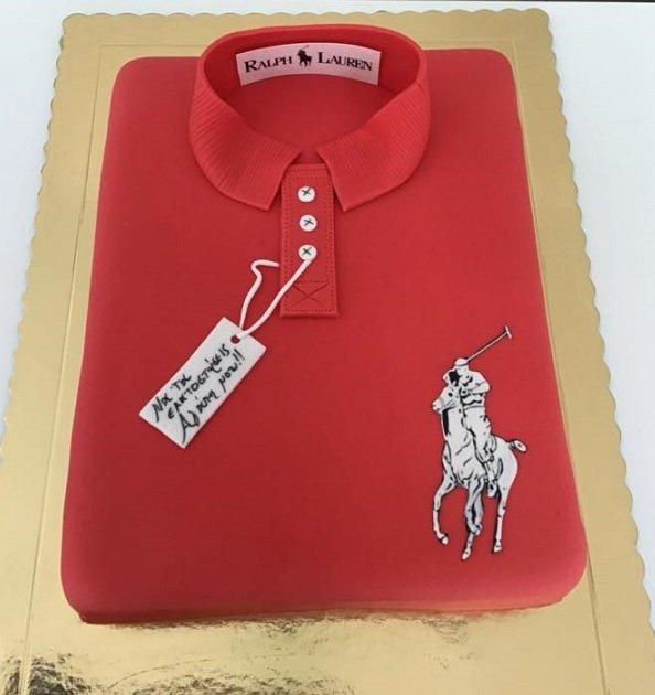 τούρτα από ζαχαρόπαστα μπλουζα t-shirt ρούχο Polo Ralph Lauren,   Ζαχαροπλαστείο καλαμάτα madame charlotte, τούρτες γεννεθλίων γάμου βάπτησης παιδικές θεματικές birthday theme party cake 2d 3d confectionery patisserie kalamata