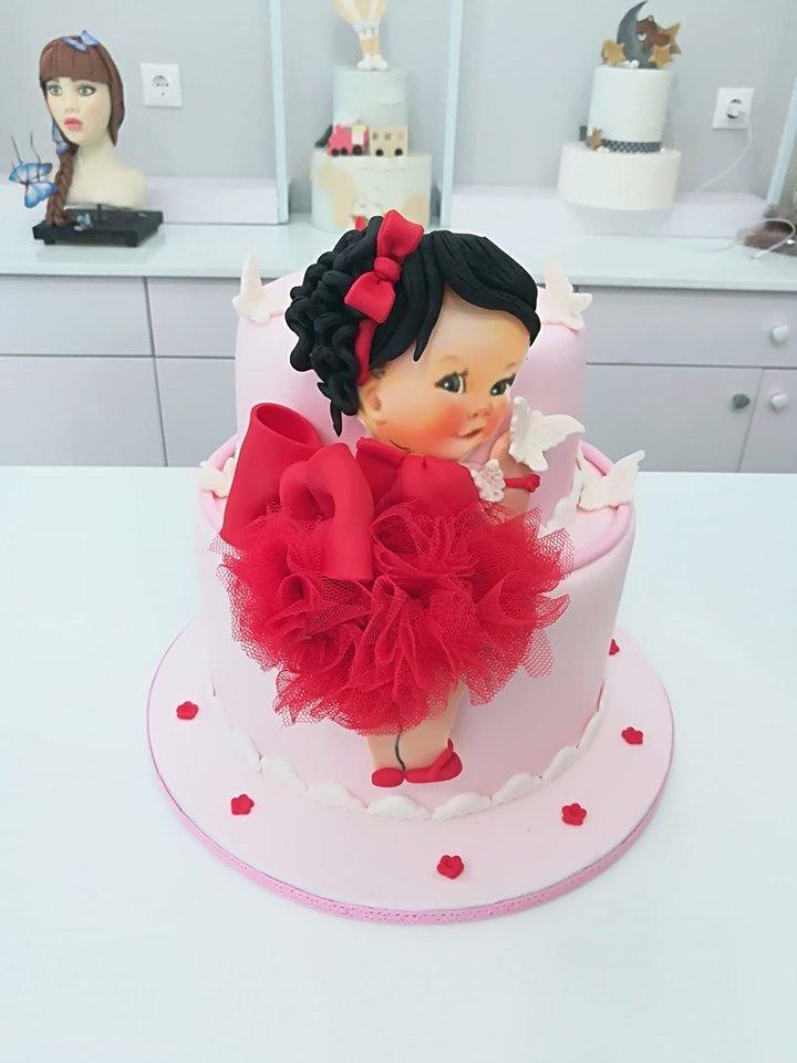 τούρτα από ζαχαρόπαστα girly cake red dress, τούρτα κορίτσι με κόκκινο φόρεμα, Ζαχαροπλαστείο καλαμάτα madame charlotte, τούρτες γεννεθλίων γάμου βάπτησης παιδικές θεματικές birthday theme party cake 2d 3d confectionery patisserie kalamata