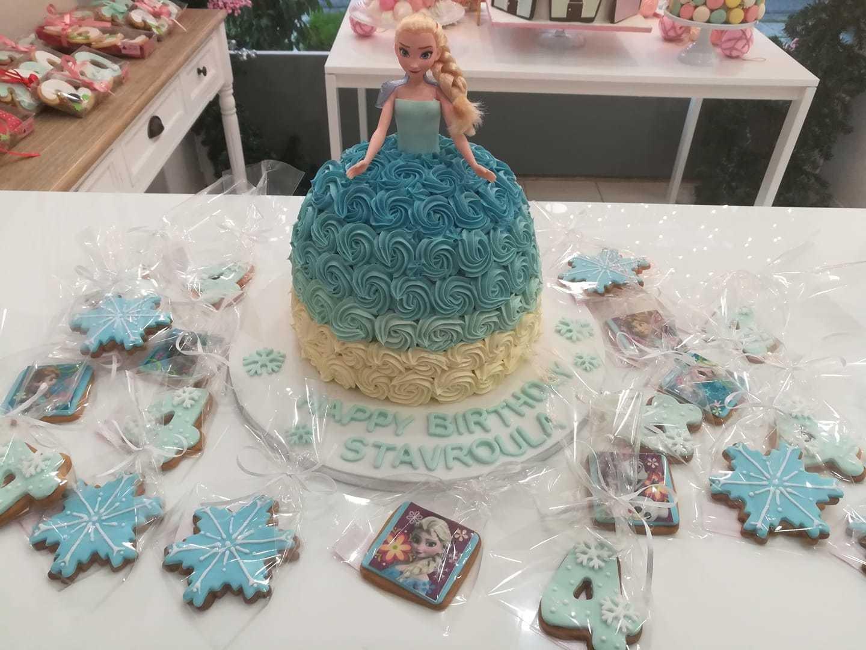 τούρτα από ζαχαρόπαστα Elsa frozencake & cookies έλσα φρόζεν, Ζαχαροπλαστείο καλαμάτα madame charlotte, τουρτες παρτι παιδικες γενεθλιων για αγόρια για κορίτσια για μεγάλους madamecharlotte.gr birthday cakes patisserie confectionery kalamata