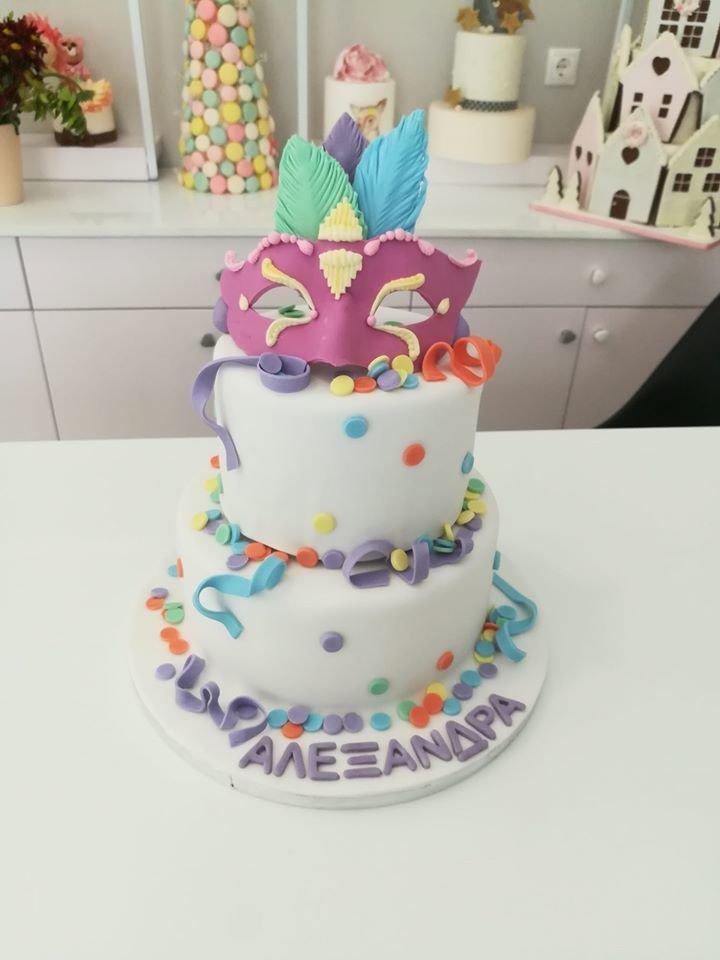 τούρτα από ζαχαρόπαστα καρναβάλι carnival cake, Ζαχαροπλαστεία στη καλαμάτα madame charlotte, τούρτες γεννεθλίων γάμου βάπτησης παιδικές θεματικές birthday theme party cake 2d 3d confectionery patisserie kalamata