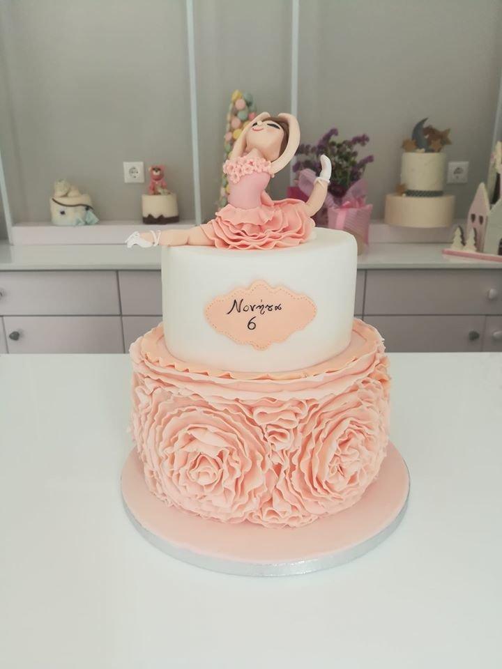 τούρτα από ζαχαρόπαστα μπαλαρίνα μπαλέτο, Ζαχαροπλαστείο καλαμάτα madame charlotte, τουρτες παρτι παιδικες γενεθλίων για αγόρια για κορίτσια για μεγάλους madamecharlotte.gr birthday theme cakes patisserie confectionery kalamata