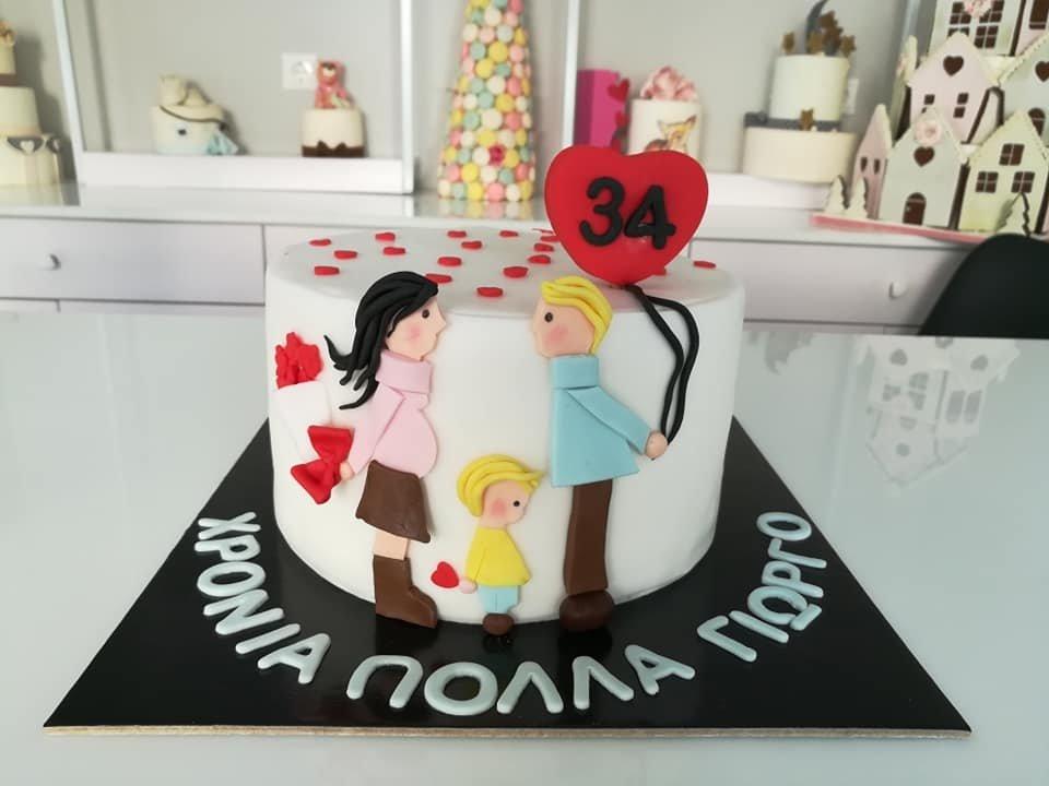 τούρτα από ζαχαρόπαστα themed cake happy birthday 34 years old, Ζαχαροπλαστείο Καλαμάτα madame charlotte, τούρτες για πάρτι παιδικές γενεθλίων για αγόρια για κορίτσια για μεγάλους madamecharlotte.gr birthday themed cakes patisserie confectionery kalamata