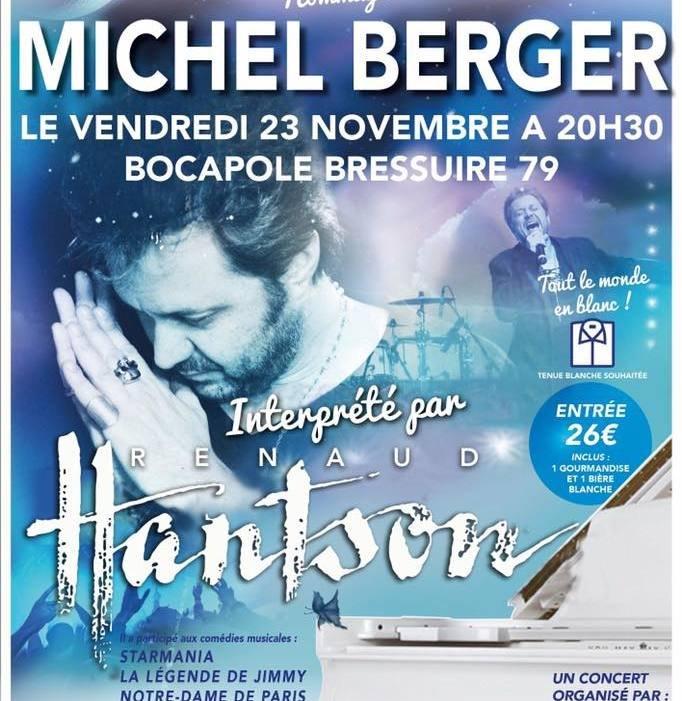 RENAUD HANTSON, hommage à Michel Berger