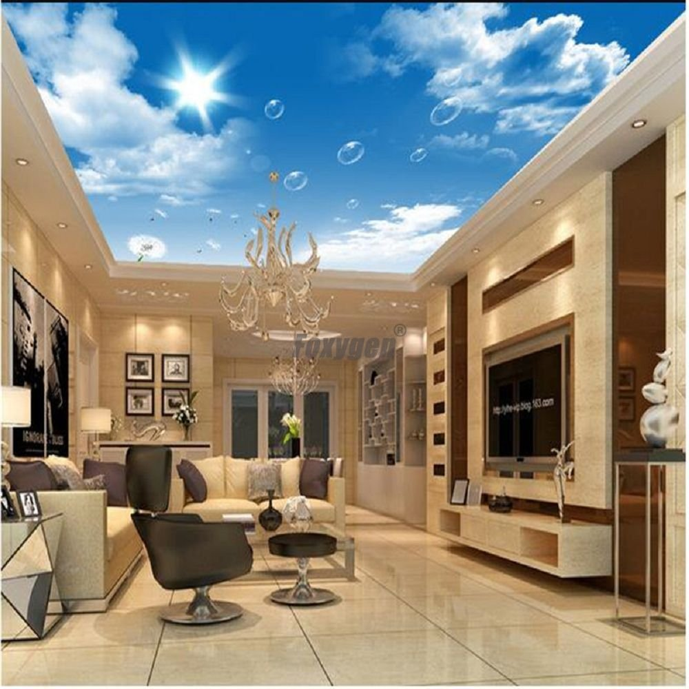 House Modern False Ceiling Blue Sky Clouds Sunshine Print 3d Transparent Pvc Ceiling Design Shanghai Foxygen Industrial Co Ltd