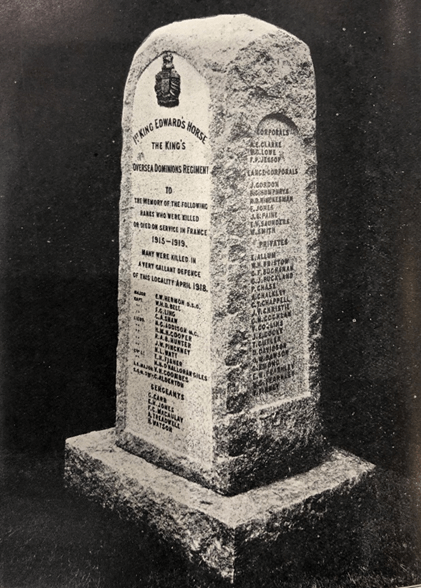 Vieille Chapelle KEH Memorial