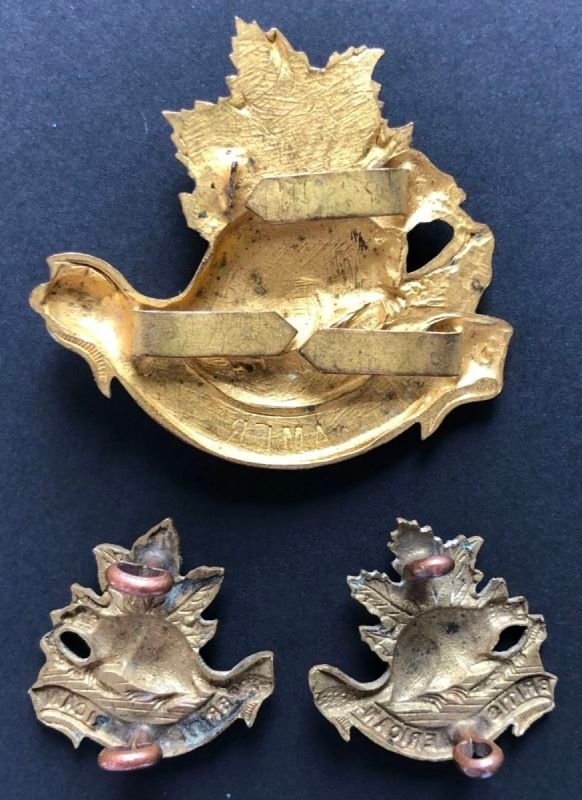 British American Squadron Headdress & Collar Badges