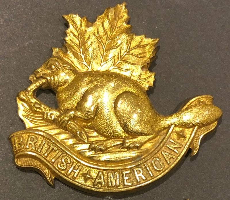 British American Squadron Other Ranks' Headdress Badge - Genuine