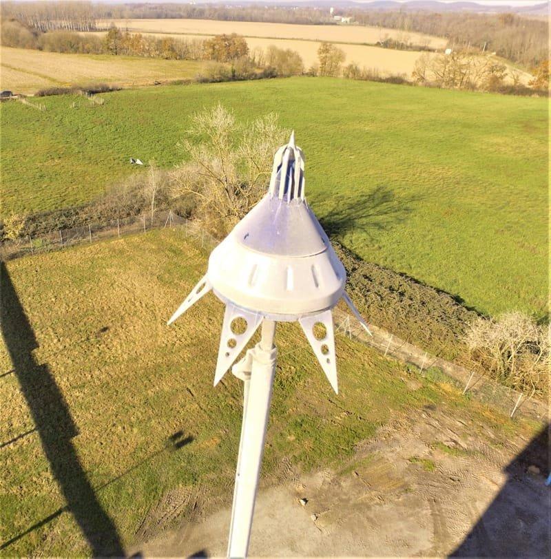 Observation d'un paratonerre: hauteur 35 mètres (scénario S3).
