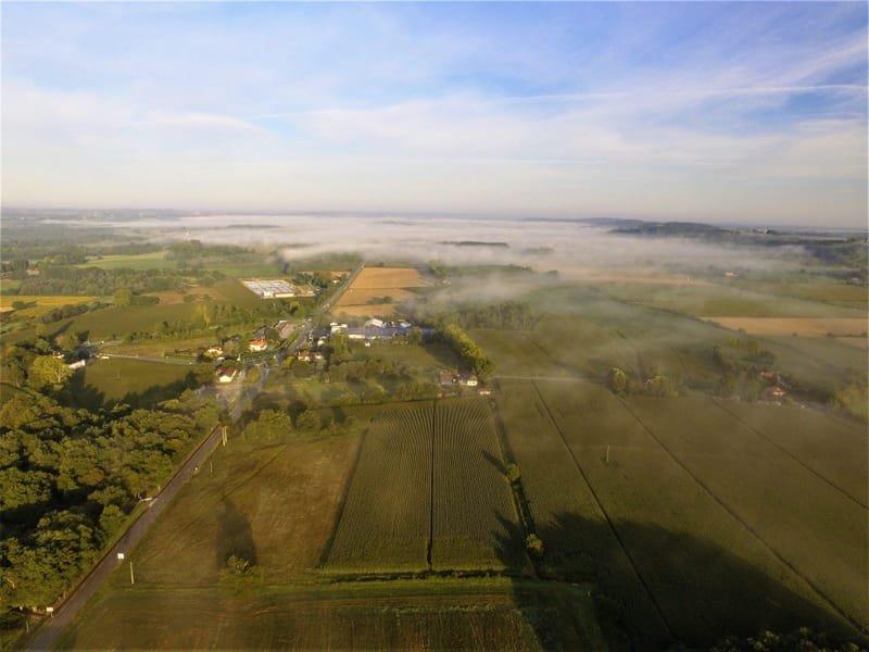 Le village de Tarsac vue de 150 mètres (scénario S1).