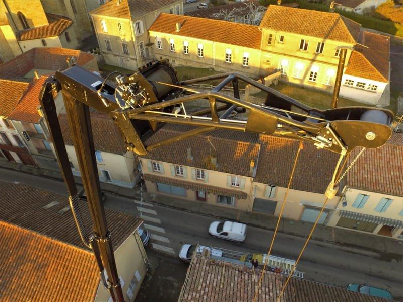 Détail de la flèche de grue, hauteur 22 mètres (scénario S3)