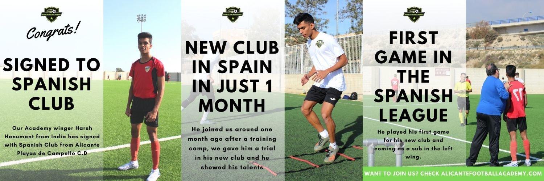 player joining spanish football academy