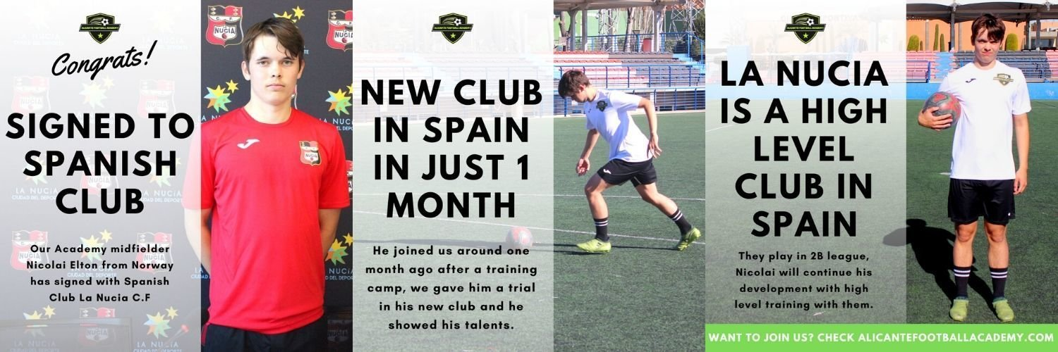 player playing in football academy in europe
