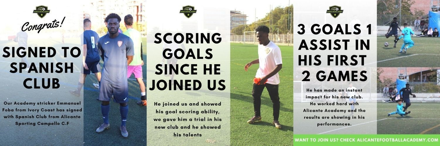 player getting into football club in spain