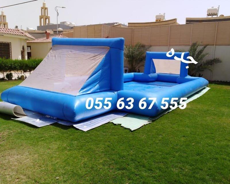 ملعب صابوني مقاس 4م*8م (السعر 450 ريال)