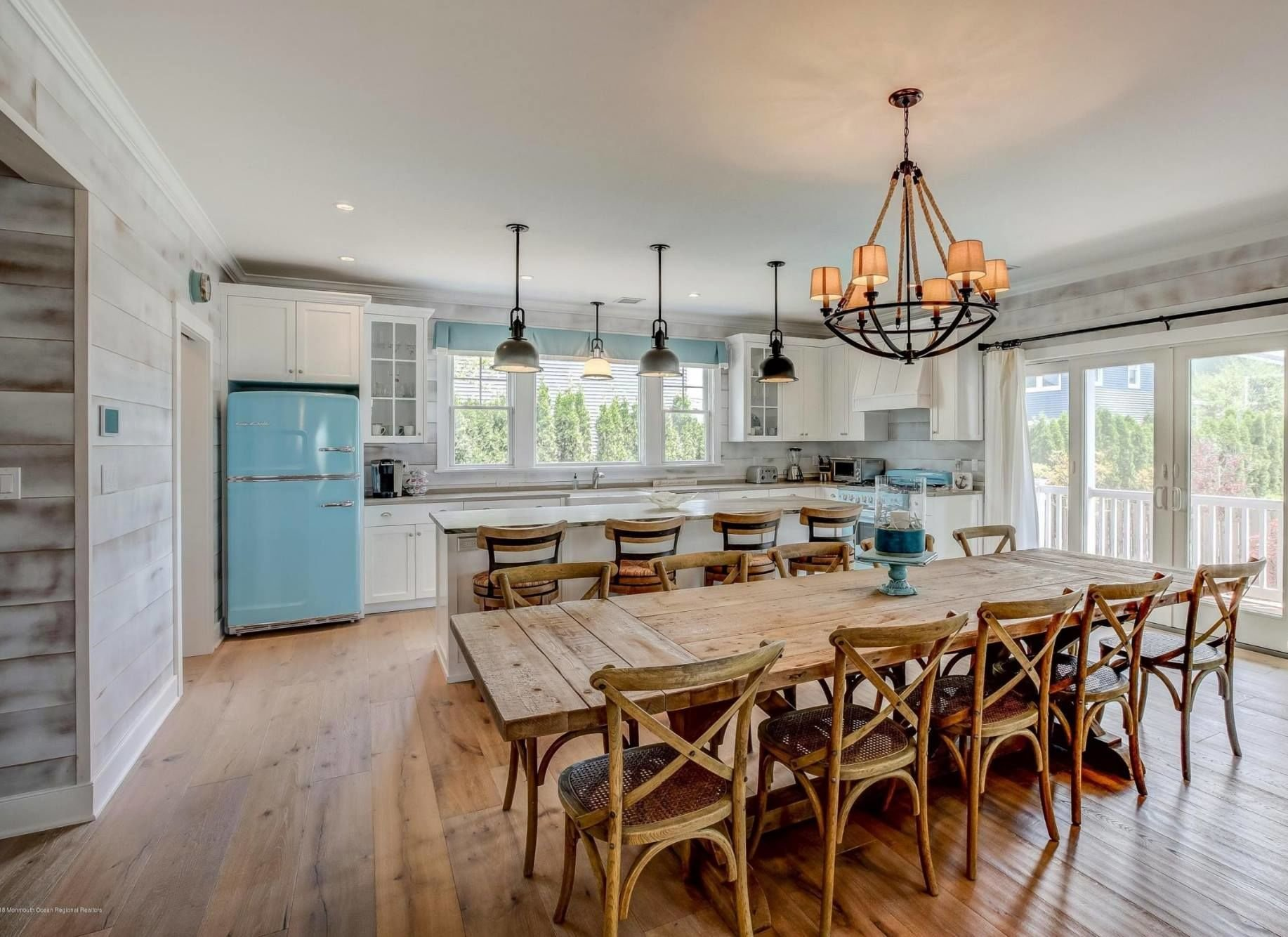 Farmhouse Coastal Dining Room
