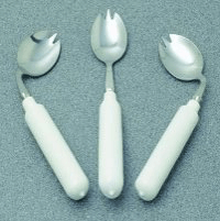 Angled and swivel cutlery