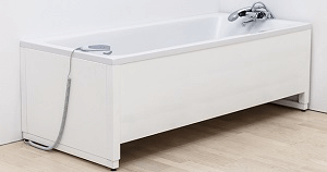 Image of a height adjustable bath