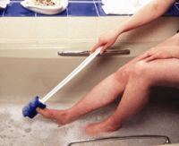 Image of a long handled bathing aid