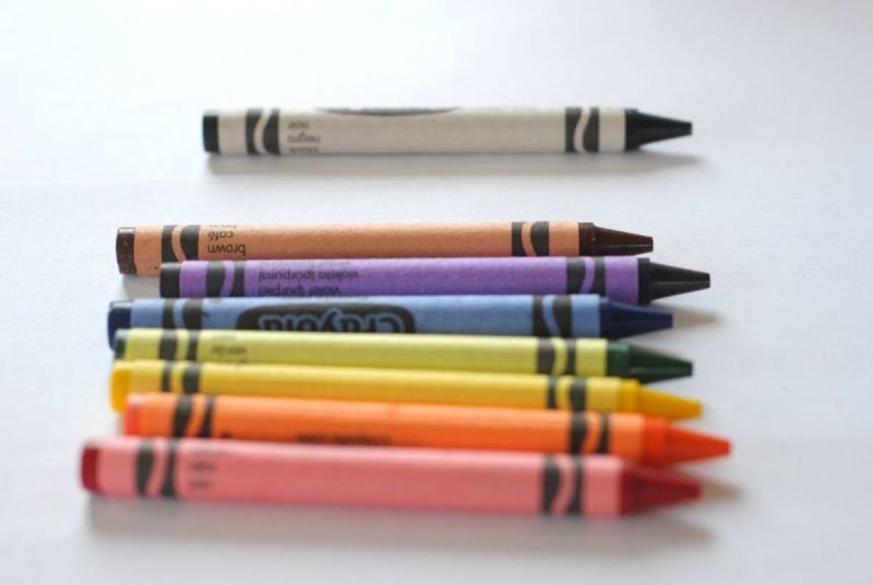 A few crayons