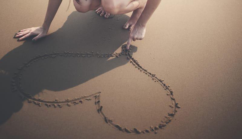Praying in sand