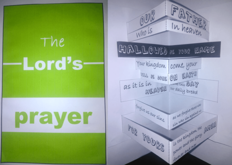 Lord' Prayer 3D Card