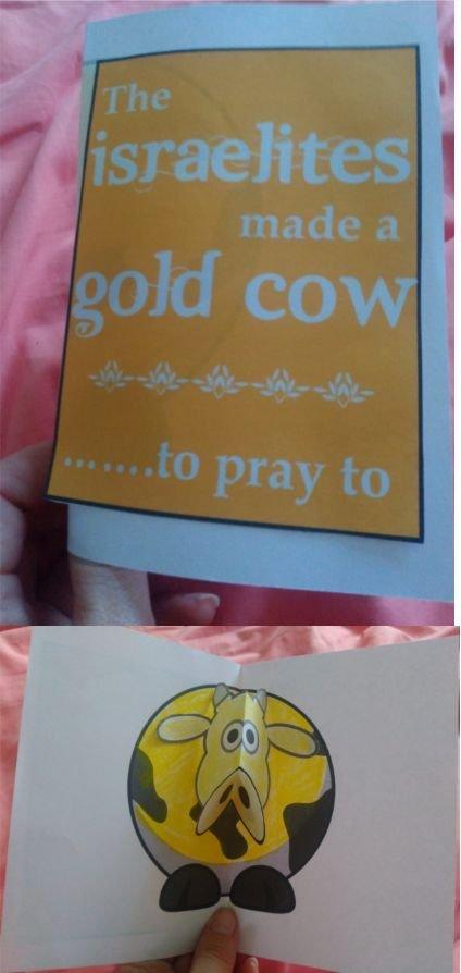 Golden Calf Popup Card