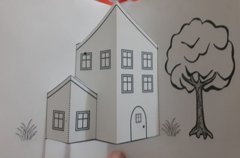 My house has many rooms popup card