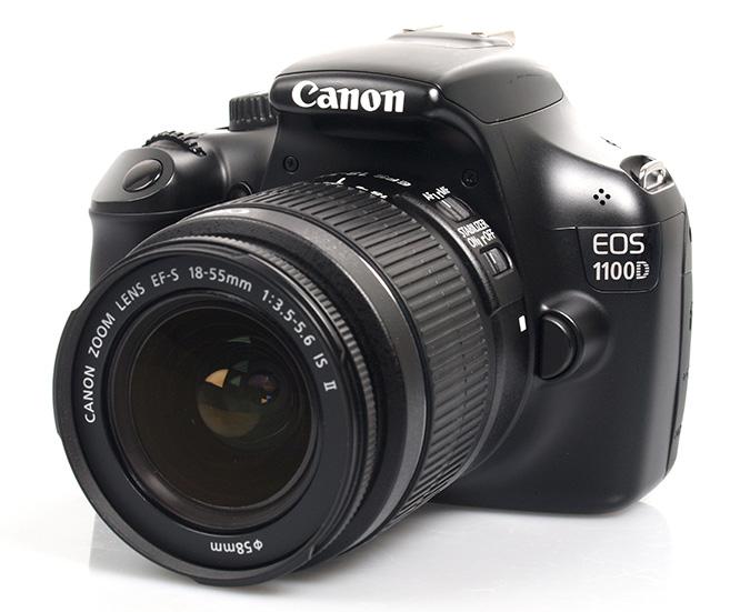 canon eos 1100d dslr front angle lens