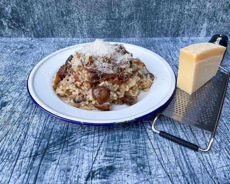 Mushroom & Red Onion Marmalade Risotto