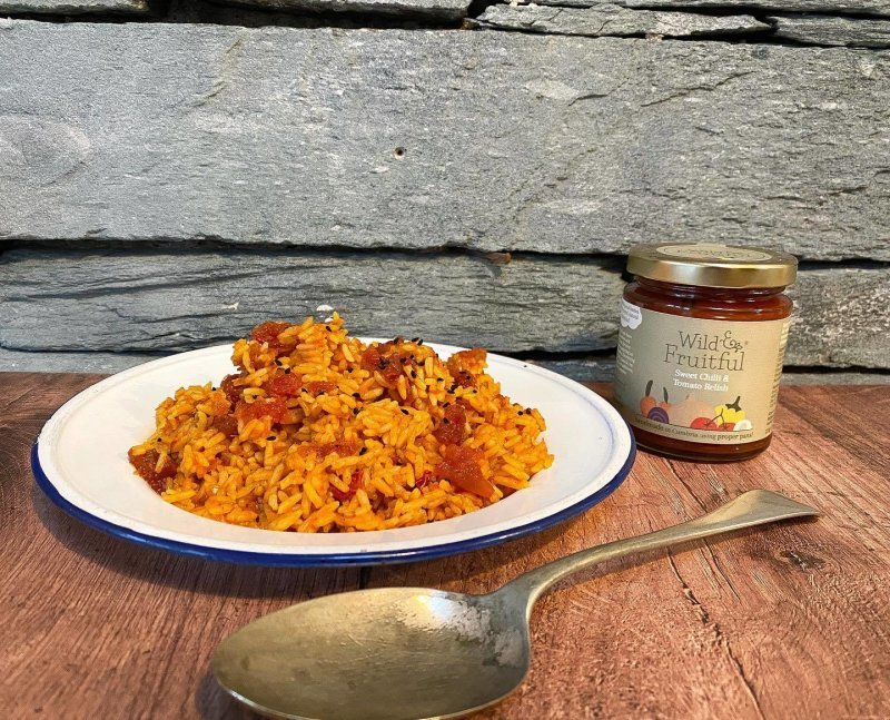 Spicy Rice with Sweet Chilli & Tomato Relish