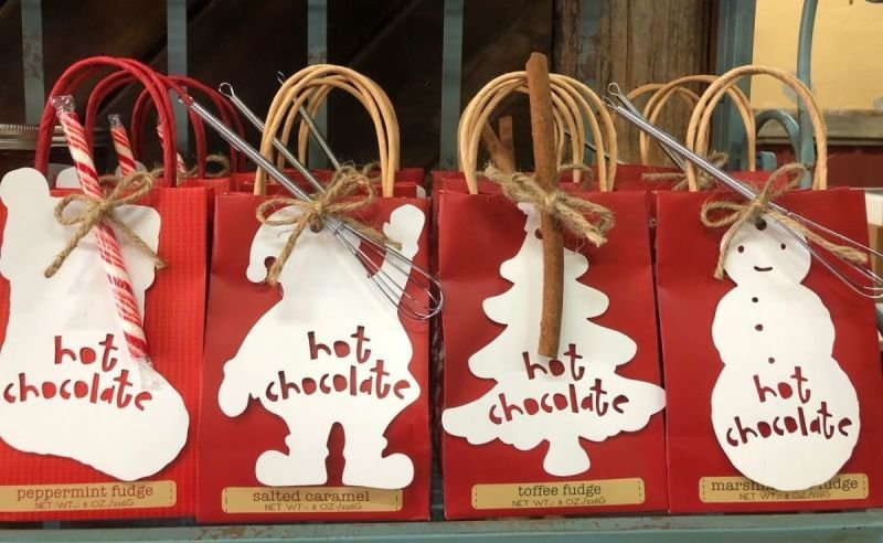 Christmas Hot Chocolate in multiple fudge flavors