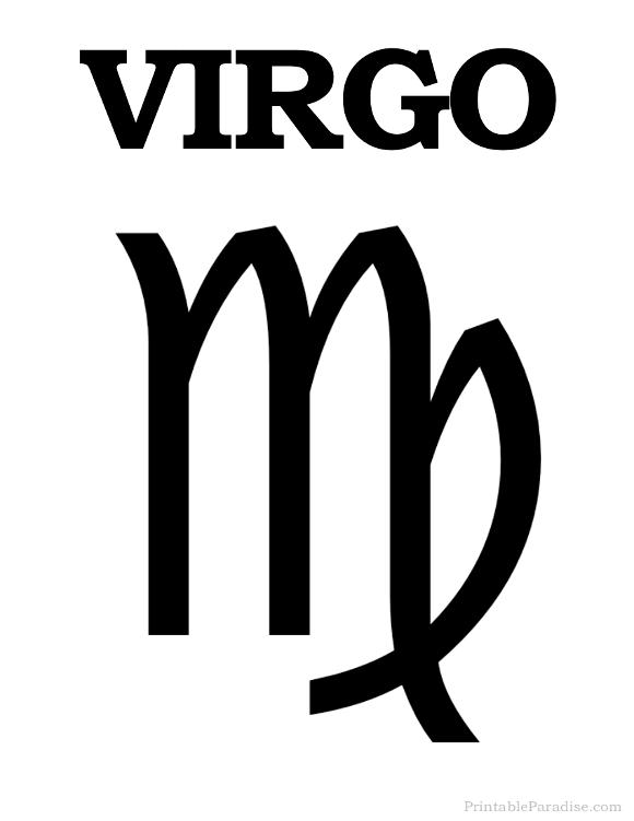 Printable Virgo Zodiac Symbol | Signo zodiacal virgo, Virgo ...